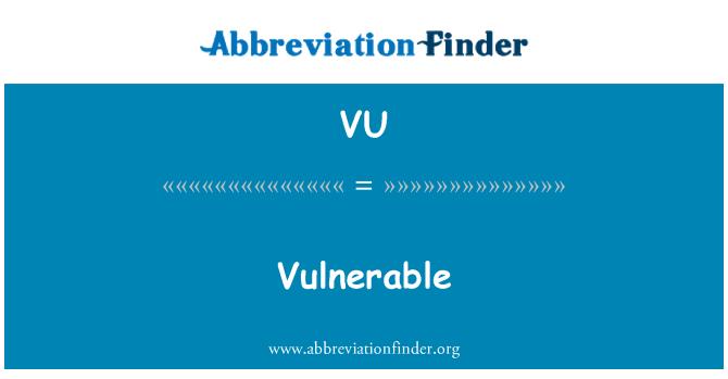 VU: Vulnerable