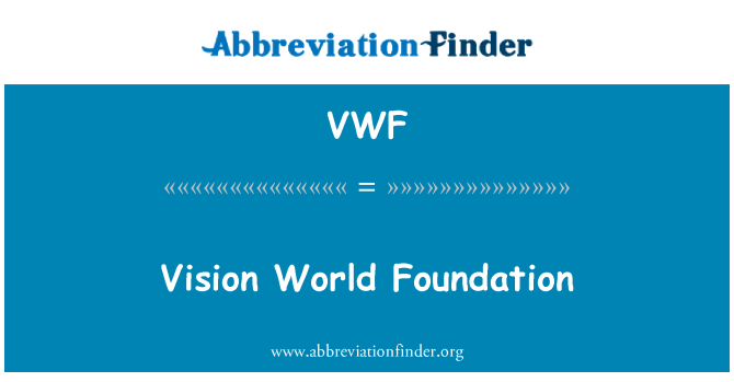 VWF: Vision World Foundation