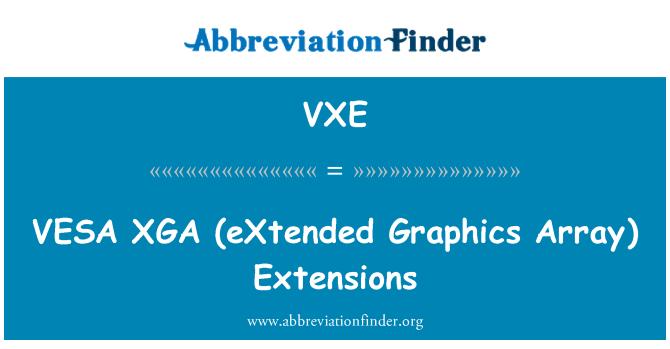 VXE: VESA   XGA (eXtended Graphics Array)  Extensions