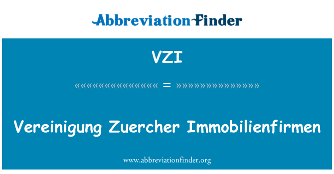 Vzi vereinigung zuercher immobilienfirmen for Immobilienfirmen