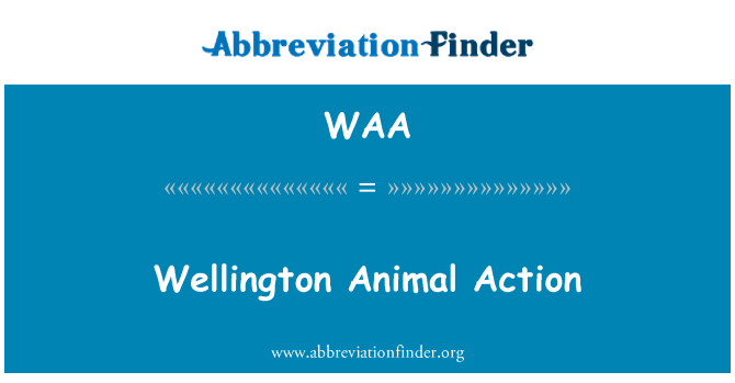 WAA: Wellington Animal Action