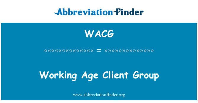 WACG: Grupo de trabajo era cliente