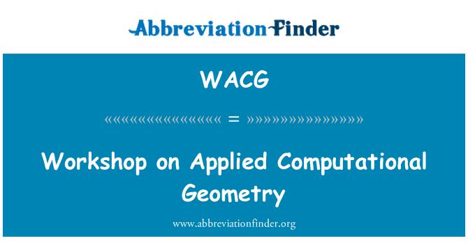 WACG: Taller sobre geometría computacional aplicada