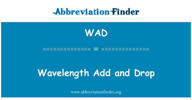 WAD: Wavelength Add and Drop