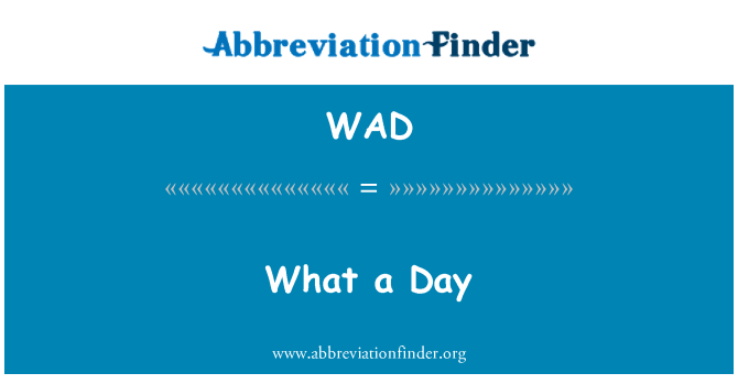 WAD: What a Day