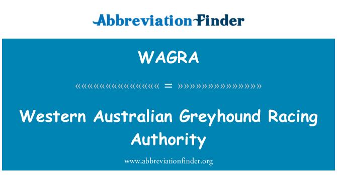 WAGRA: Autoridad occidental australiana Greyhound Racing