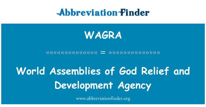 WAGRA: Asambleas mundiales de Dios alivio y Agencia para el desarrollo