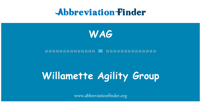 WAG: Willamette Agility Group