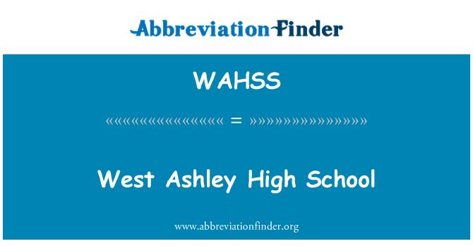 WAHSS: Захід Ешлі середньої школи