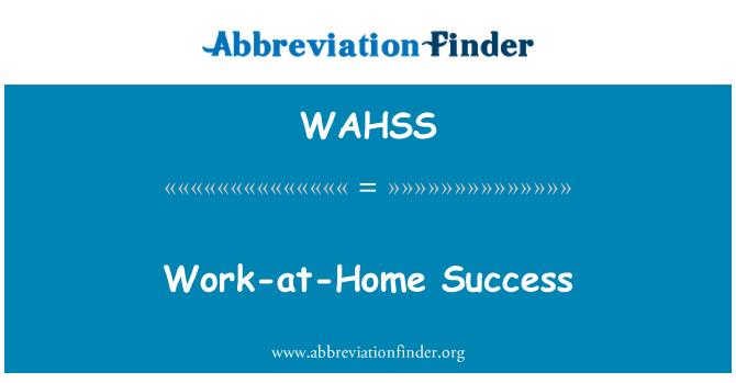 WAHSS: Töö-at-Home edu