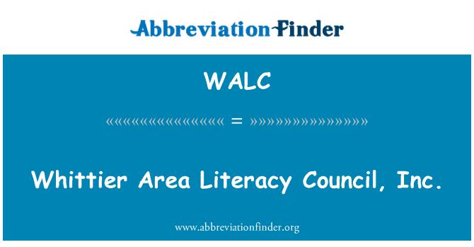 WALC: Whittier Area Literacy Council, Inc.