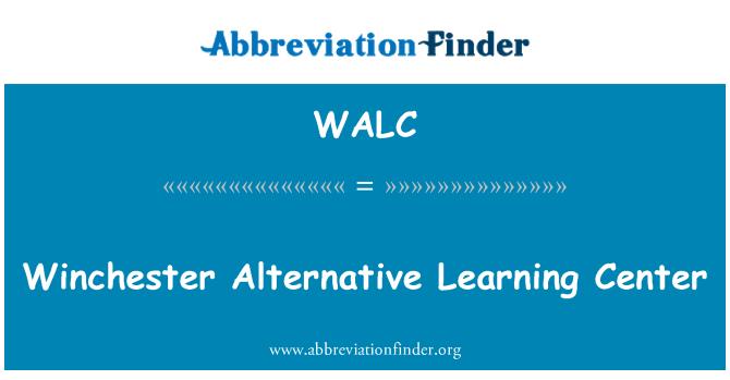 WALC: Winchester Alternative Learning Center