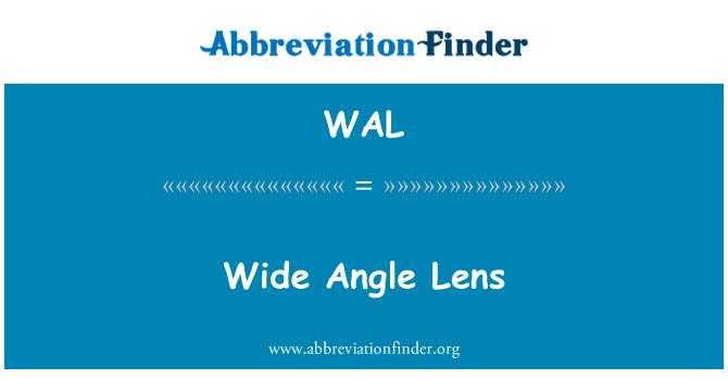WAL: Wide Angle Lens