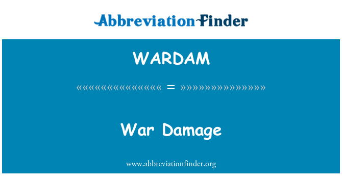 WARDAM: War Damage