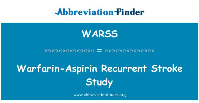 WARSS: Warfarina-Aspirin movimiento recurrente estudio