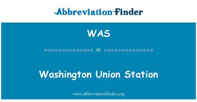WAS: Washington Union Station