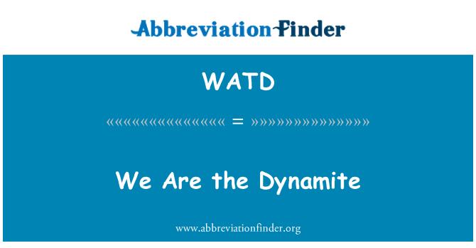 WATD: Dinamit vardır