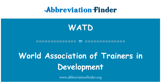 WATD: Gelişim eğitimciler Derneği dünya