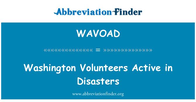WAVOAD: Washington Volunteers Active in Disasters