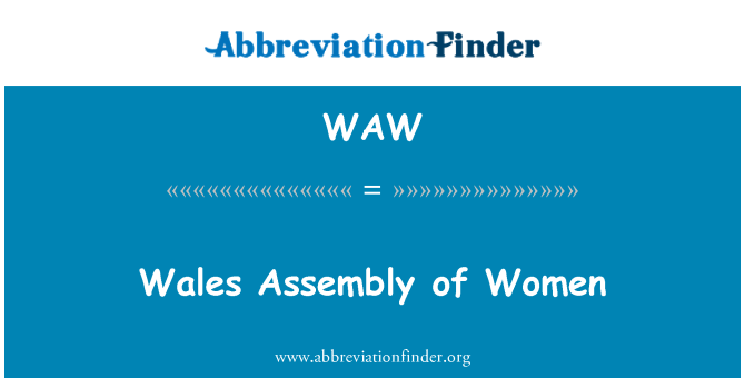 WAW: Wales Assembly of Women