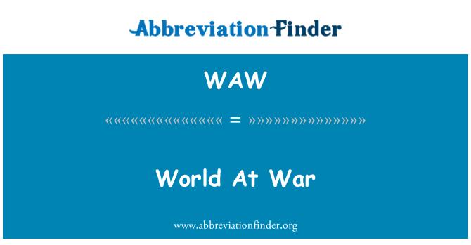 WAW: World At War