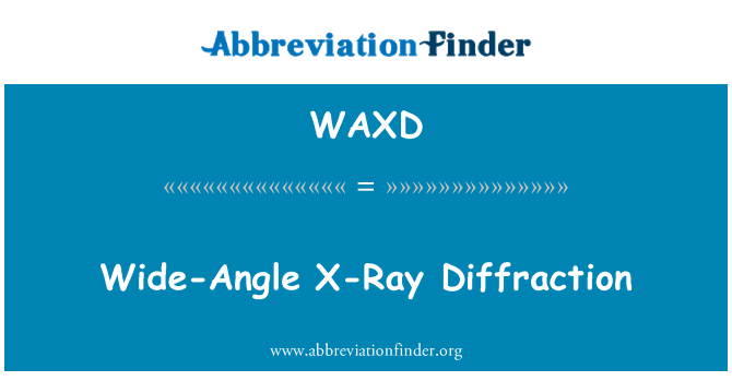 WAXD: Szerokokątny dyfrakcji promieni rentgenowskich