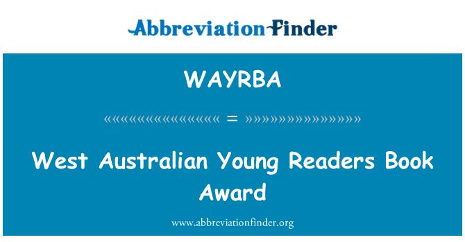 WAYRBA: West Australian Young Readers Book Award