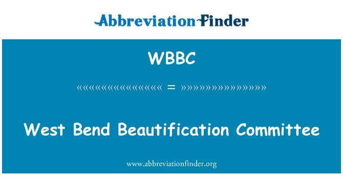 WBBC: Comité de embellecimiento West Bend