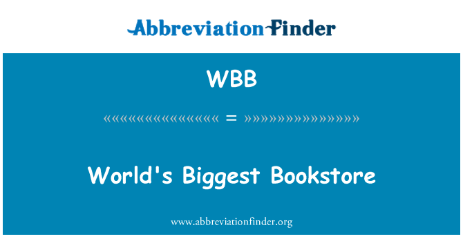 WBB: World's Biggest Bookstore