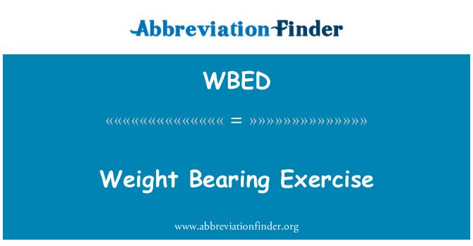 WBED: Ejercicio de soporte de peso