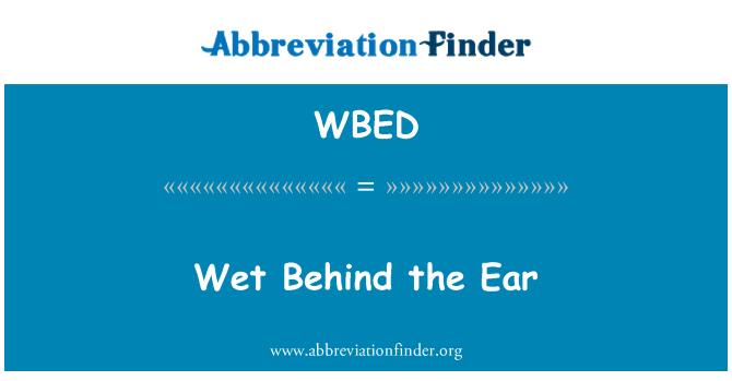 WBED: Húmeda detrás de la oreja