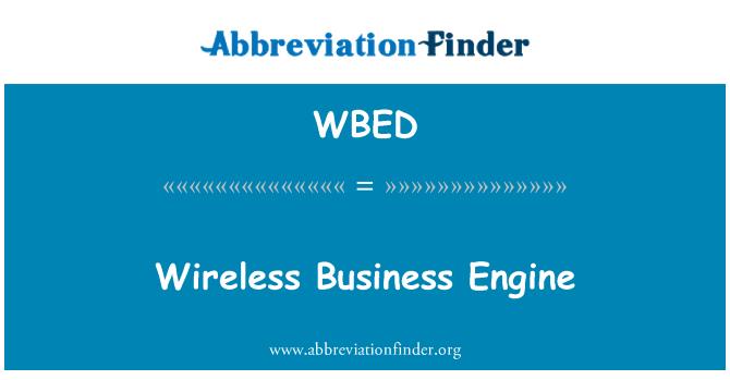 WBED: Motor de negocio inalámbrico