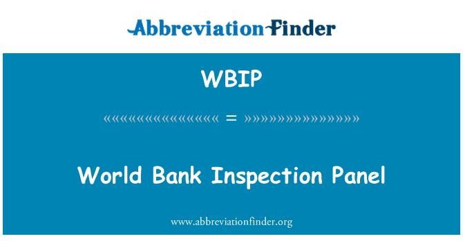 WBIP: Dünya Bankası Denetim Masası