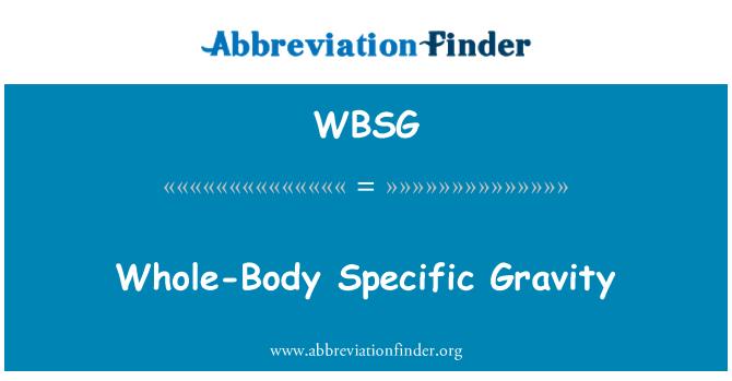 WBSG: Gravedad específica de cuerpo entero