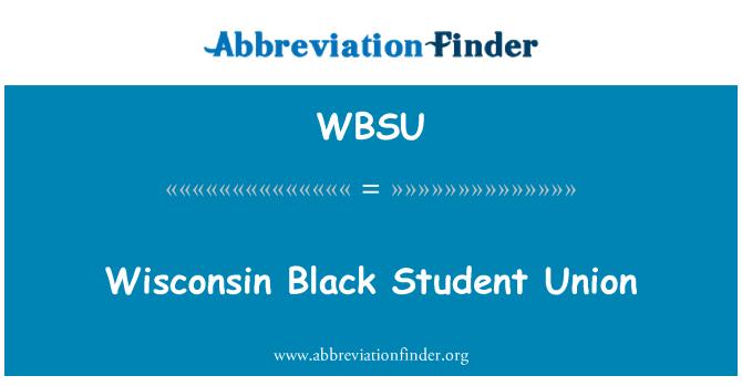 WBSU: Wisconsin estudiantil negro