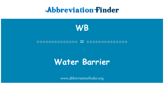 WB: Water Barrier
