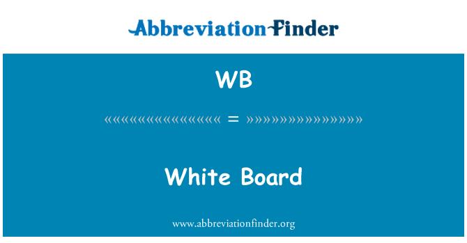 WB: White Board