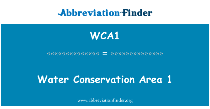 WCA1: Water Conservation Area 1