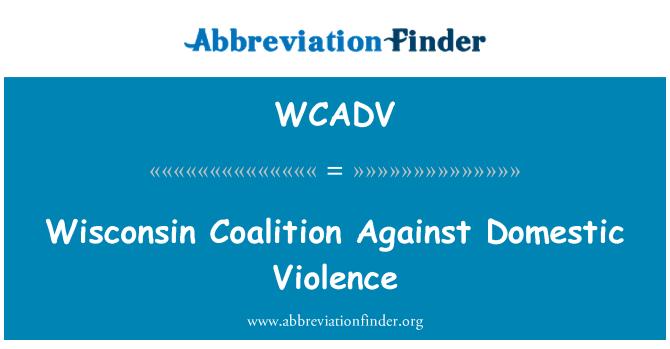WCADV: Wisconsin koalice proti domácímu násilí