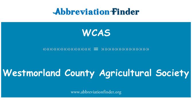 WCAS: Westmorland maakonna Pυllumajanduse Selts
