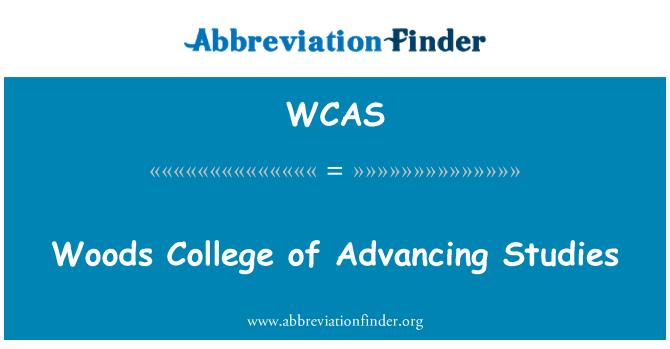 WCAS: Woods ilerleyen çalışmaları üniversite