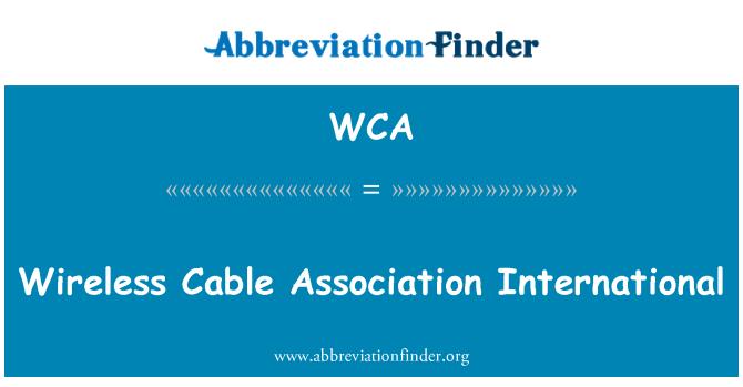 WCA: Wireless Cable Association International