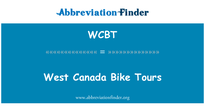 WCBT: Canadá Oeste Bike Tours