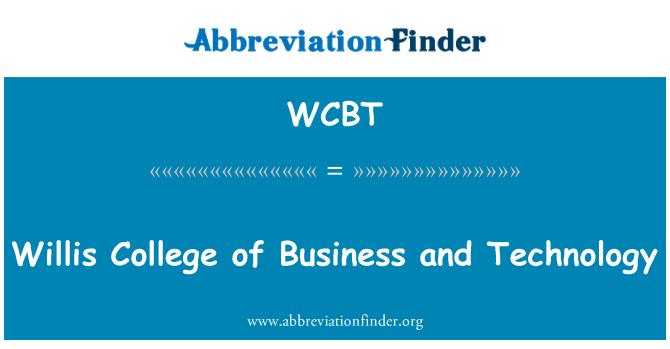 WCBT: Willis Universidad de negocios y tecnología