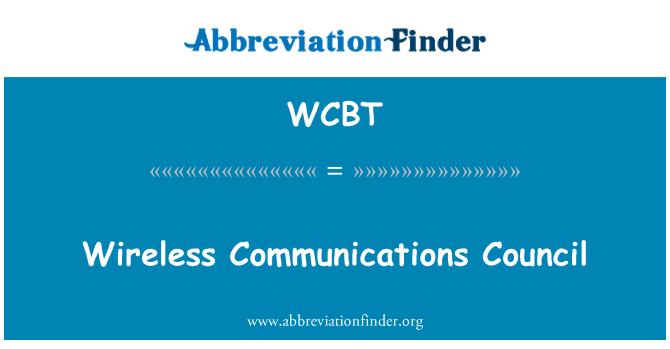 WCBT: Consejo de las comunicaciones inalámbricas
