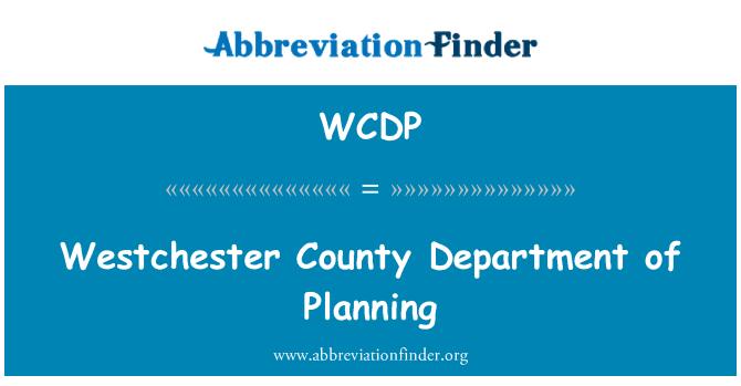 WCDP: Departamento de planificación del Condado de Westchester