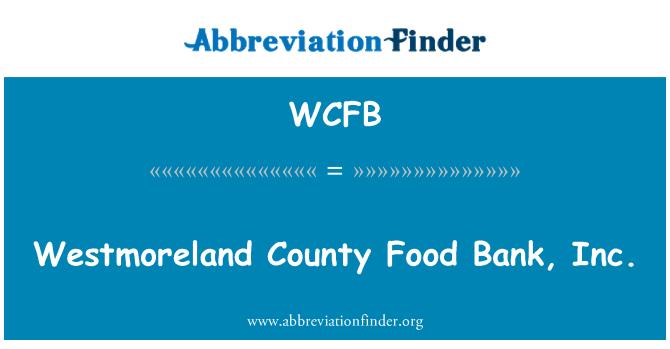 WCFB: Westmoreland ilçe Gıda Bankası A.ş