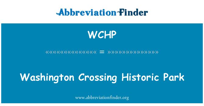 WCHP: Parque histórico Washington Crossing