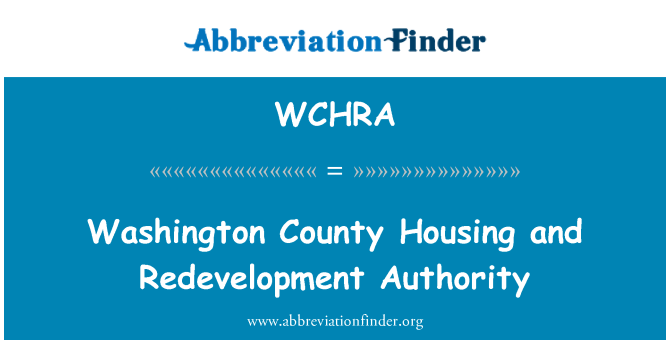 WCHRA: Washington County Housing and Redevelopment Authority