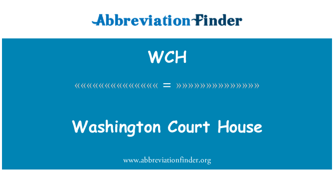 WCH: Washington Court House